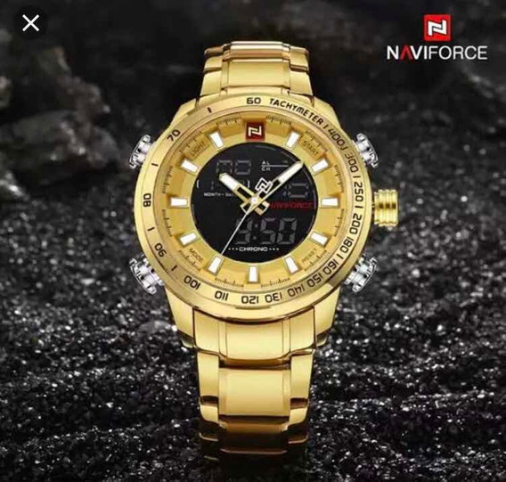 Relógio Naviforce Original Dourado - Envio Imediato