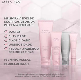 Promoção 24hs Kit Timewise 3d Mary Kay + Sacolinha Exclusiva