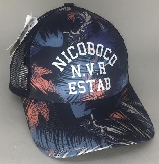 Boné Nicoboco Masculino Sublimado Folhage Marinho 69431
