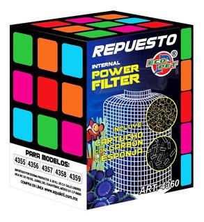 Repuesto Cartucho Filtro Acuario Pecera Esponja-carbón 4360