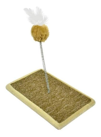 Brinquedo Arranhador Carpete Para Gato Bege