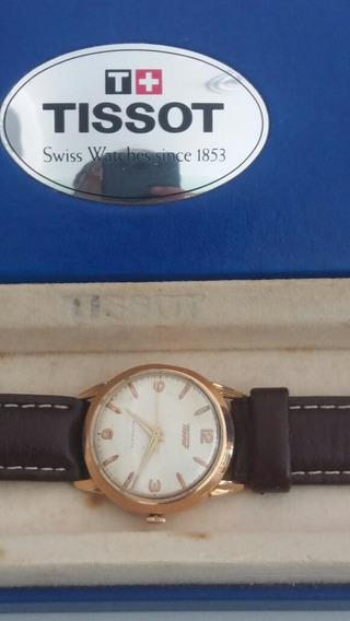 Relógio Automático Tissot Ouro 18k 0750 Funcionando Revisado