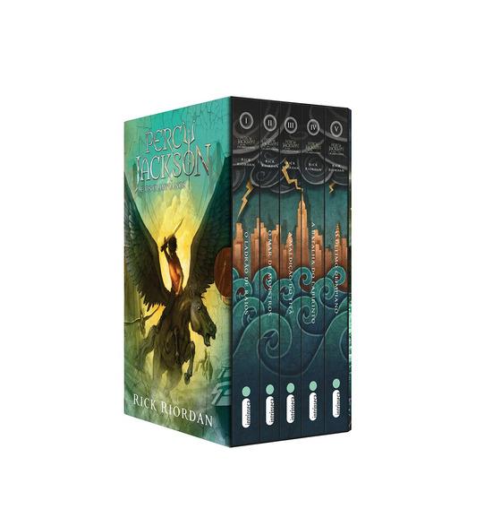 Box 5 Livros Coleção Percy Jackson E Os Olimpianos