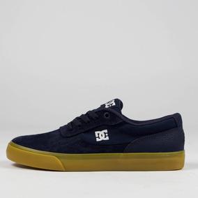 Tênis Dc Shoes Switch Azul Marinho/caramelo Envio Rápido