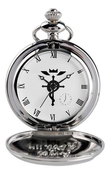 Relógio Prata Fullmetal Alchemist Edward Elric De Bolso