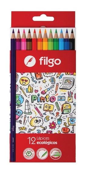 Lapices Filgo Color Caja X12 Largos Pack X 12 Cajitas