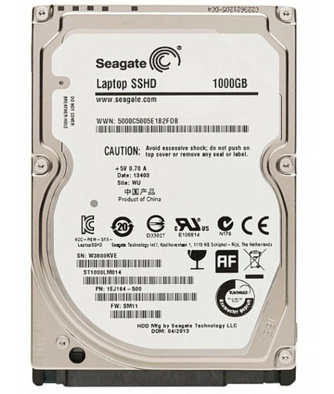 Hd 2.5 Notebook Seagate Sshd Híbrido 1tb + 8gb Ssd Novo