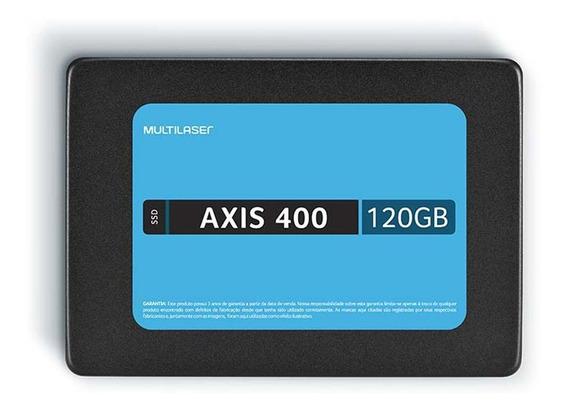 Ssd Multilaser 2,5 120gb Axis 400 - Gravação 400 Mb/s - Ss10