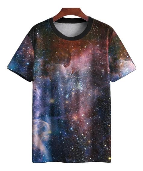 Camiseta Galaxia Universo Nebulosa Swag Astronomia Tumblr Mt