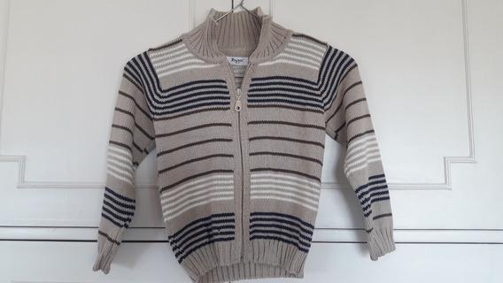 Cardigan Sweater Tejido Para Niños Cuello Alto T4 Uruguay