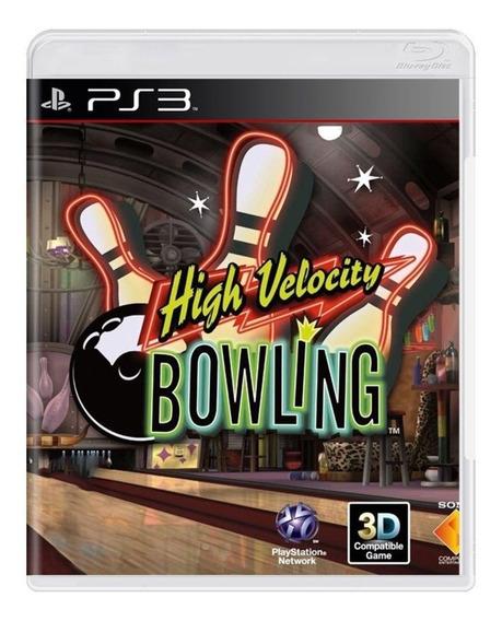 Jogo Ps3 High Velocity Bowling Original Usado Mídia Física