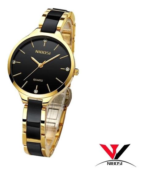 Relógio Feminino Nibosi 2330 Luxo Original