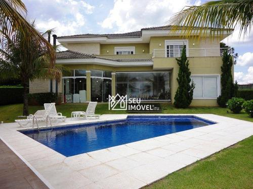 Casa Com 4 Dormitórios À Venda, 460 M² Por R$ 4.500.000,00 - Condomínio Terras De São José - Itu/sp - Ca1480