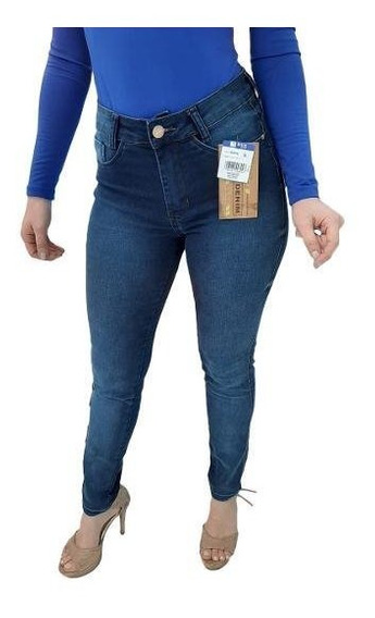 Calça Jeans Feminina Slim Bivik Levanta Bumbum Cós Alto