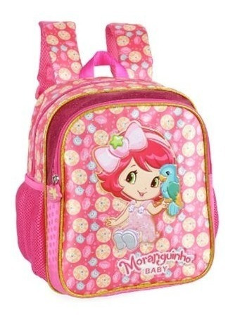 Mochila Escolar Infantil Moranguinho Glitter Rosa Is32021mg