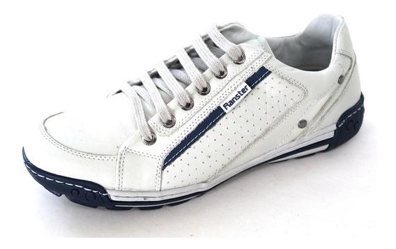 Tênis Sapatenis Sapato Masculino Couro Costurado Confortável