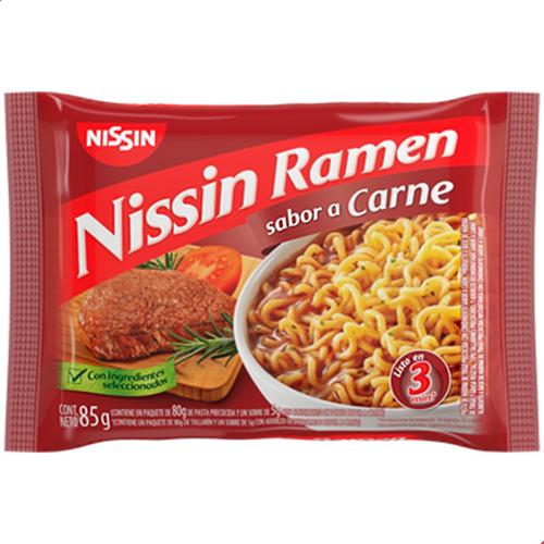 Imagen 1 de 8 de Fideos Nissin Ramen Salsa Sabor Carne Instantanea Cocina