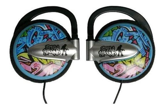 Fone De Ouvido Auricular Em Grafismo Spray Ground Sg1003