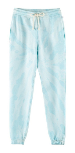 Calça Jogger Tie Dye Infantil Menina Em Moletom Hering Azul