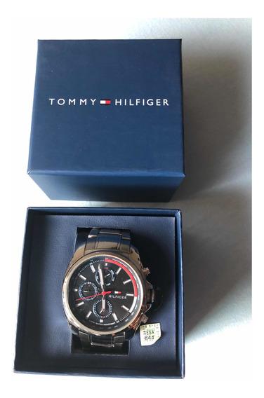 Relógio Tommy Hilfiger Masculino Aço Caixa 44mm Nota Fiscal