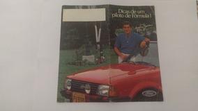 Catálogo Ayrton Senna Assinado Poster Folder Ford Escort Xr3