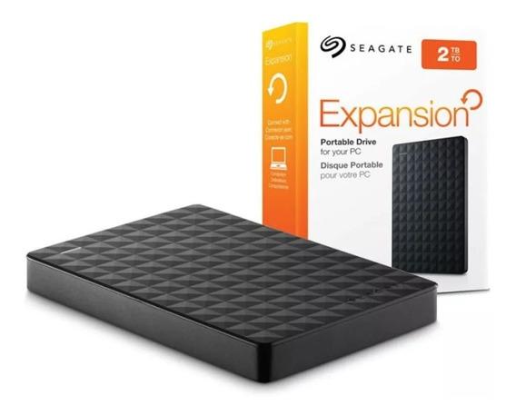 Hd Externo Portátil Seagate 2tb Usb 3.0 Pc Ps4 Xbox One Lacrado Original