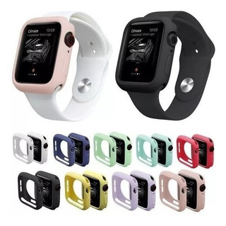 Capa Case Bumper Silicone Para Apple Watch 1 2 3 4 Cores