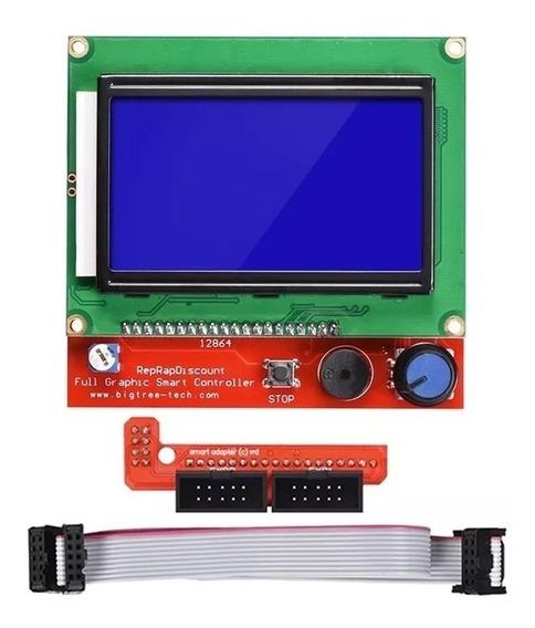 Display Tela Lcd 128x64 12864 Controle Impressora 3d Ramps