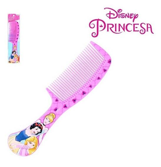 Pente De Plastico Infantil Rosa 21,5cm Princesas