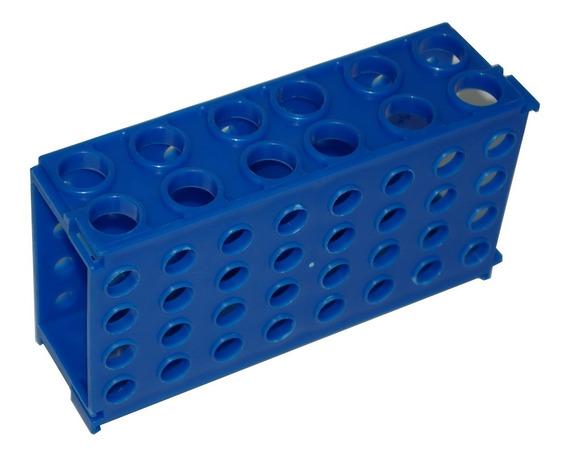 Paquete 5 Gradillas De Plástico 30 Tubos Ensayo Laboratorio