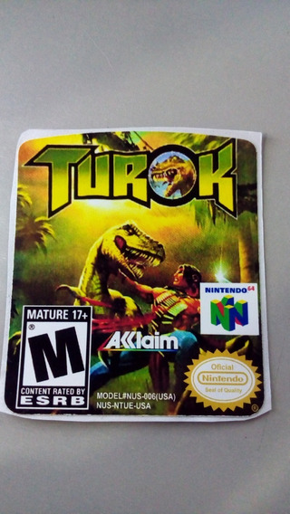 Label Turok Nintendo 64 N64