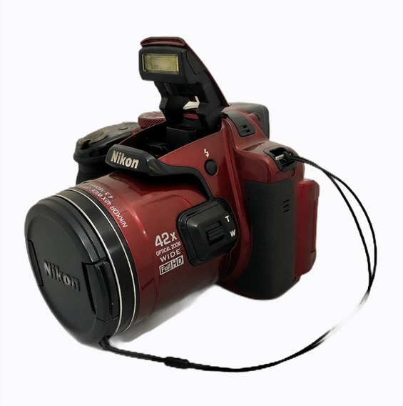 Câmera Nikon P520 Super Zomm Wifi Vermelha