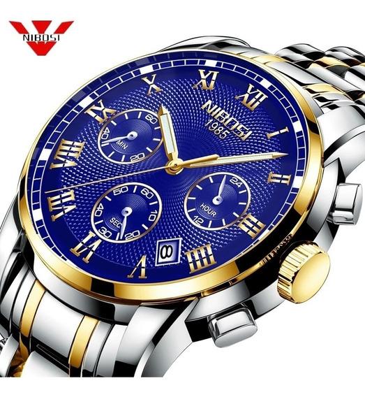 Relógio Nibosi Luxuoso Analógico Original Funcional Promoção