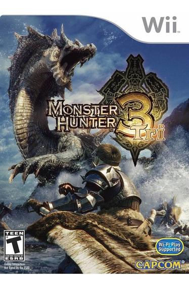 Jogo Mídia Física Monster Hunter 3 Tri Nintendo Wii