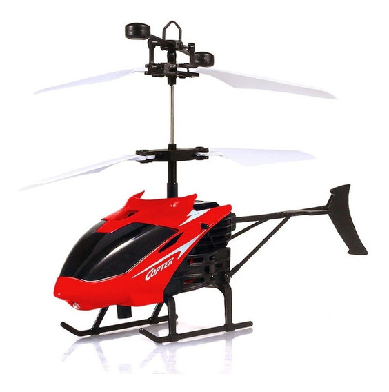 Helicóptero De Controle Remoto Drone 2 Canais Recarregável
