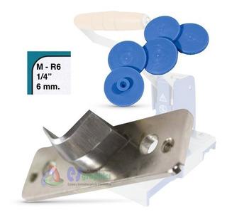 Paquete Dado Cuchilla 1/4_6mm Para Redondeadora De Esquinas_m-r6 + 5 Pads Contra Corte