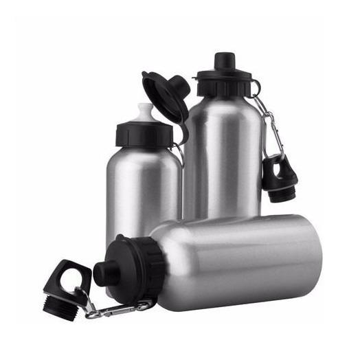 Squeeze Aluminio Prata E Branco P/ Sublimação 500ml 05 Und