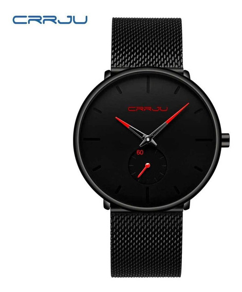 Relógio De Quartzo Masculino Crrju 2150 Vermelho