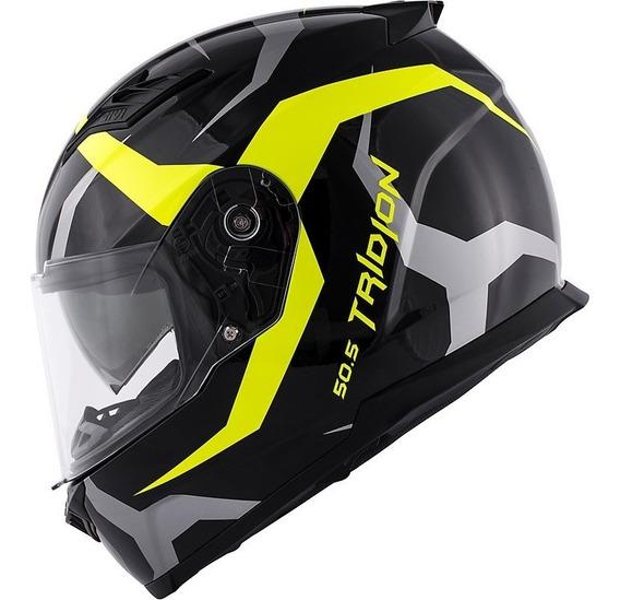 Capacete Moto Givi 50.5 Vortix Amarelo Com Viseira Solar
