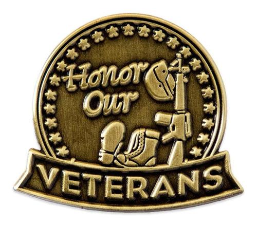 Pinmart Bronce Antiguo Honor A Nuestros Veteranos Militares