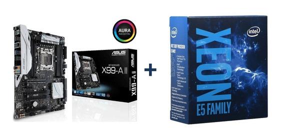 Asus X99 A 2+ Xeon E5-4627 V3 10 Core+ 32gb Ecc 2620 2630 V4