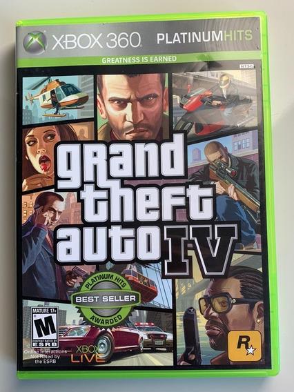 Jogo Grand Theft Auto Iv Xbox360 Platinum Hits Mídia Física