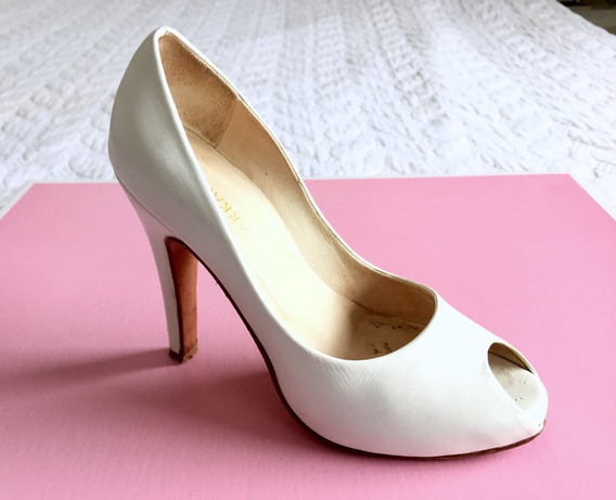 Zapatos Stilettos Ricky Sarkany Novias - T 34 - Un Solo Uso!