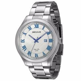Relógio Seculus Masculino Analógico Prata - 23424gosvna1