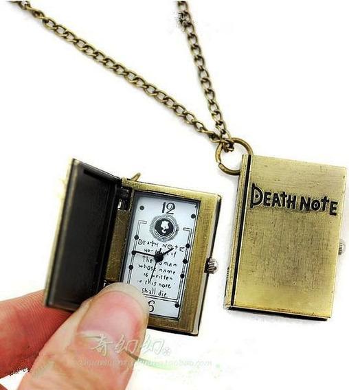 Collar Reloj Death Note Bronze