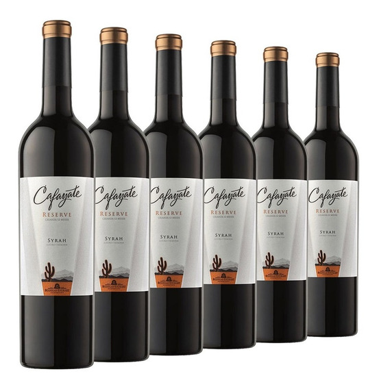 Vino Tinto Cafayate Reserve Syrah Caja 6 Botellas De 750 Ml