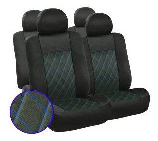 Imagen 1 de 1 de Cubre Asientos - Polyester Gts 003 Negro-azul