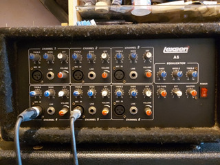 Lexsen A6 Consola Potenciada 150w Cabezal Sonido Dj