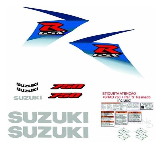 Adesivo Srad 750 Personalizado Azul E Branca 2009 A 2011