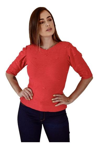 Blusas Femininas Moda Evangélica Camisete Camisa Social Blusinha De Manguinha Tricot Trico Blusa Manga Puff